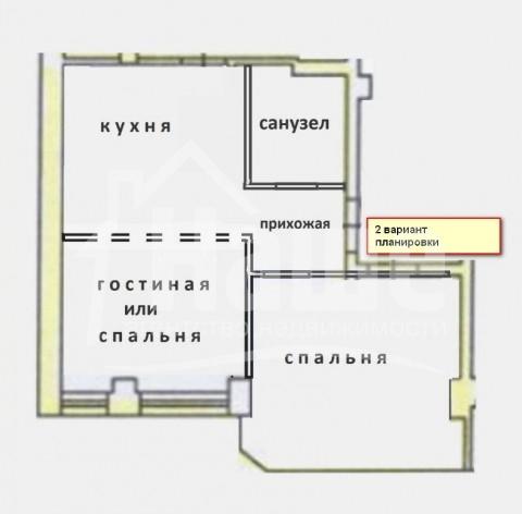 """2-комнатная квартира в ЖК """"Солнечный"""", Солнечная/Тенистая"""