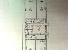 3-комнатная квартира с ремонтом на ул. Черноморского Казачества