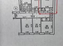 1-комнатная квартира в коммуне на ул.Люстдорфская дорога/Краснова